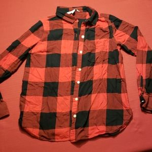 6/$20- Black & Red Flannel